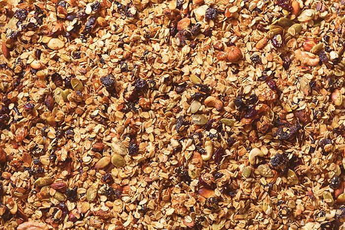 Ingredientes de la granola